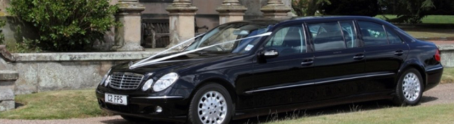 limousines at castle